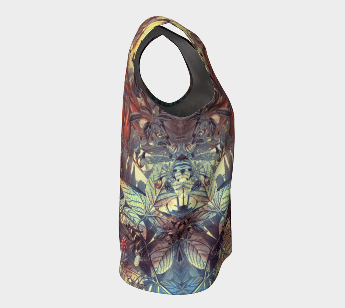 flowers art loose tank top preview #8