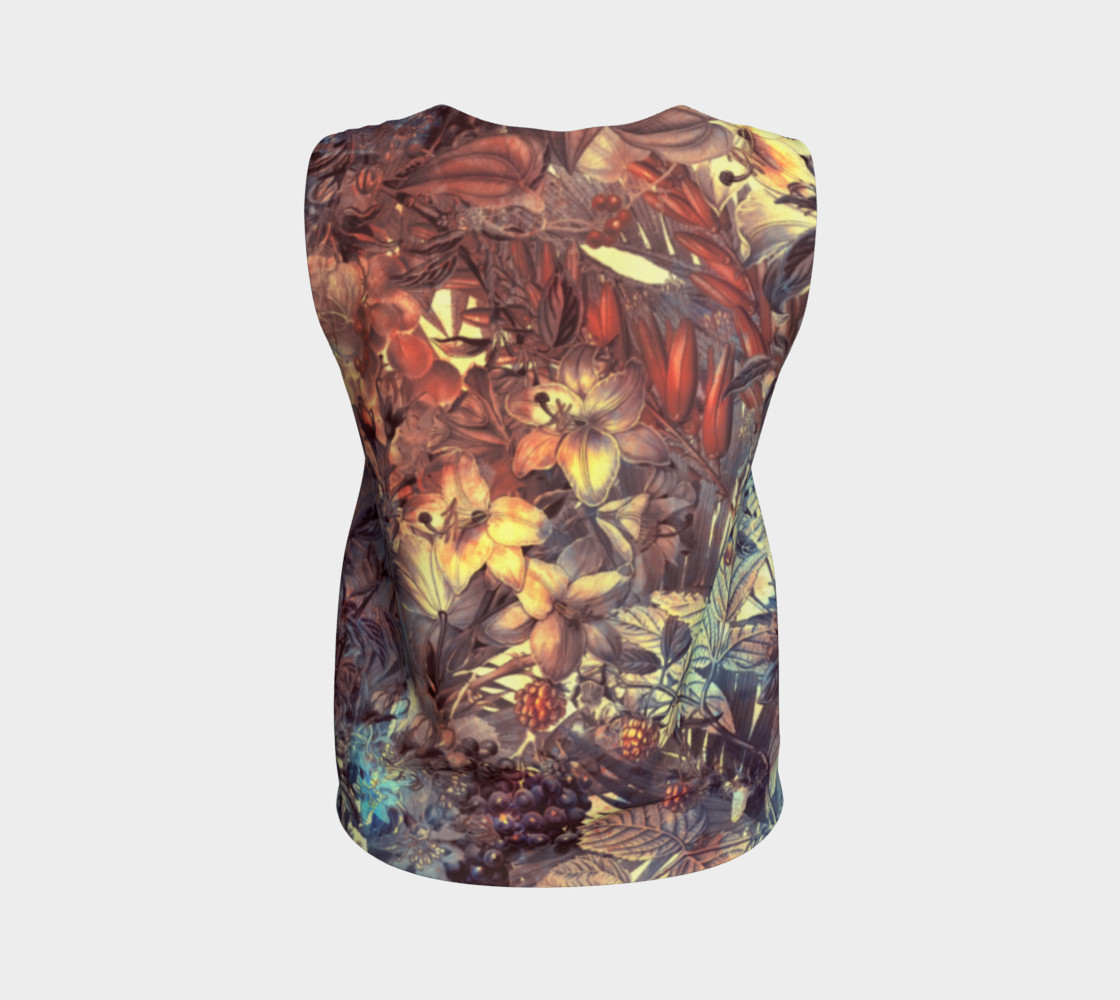 flowers art loose tank top preview #2