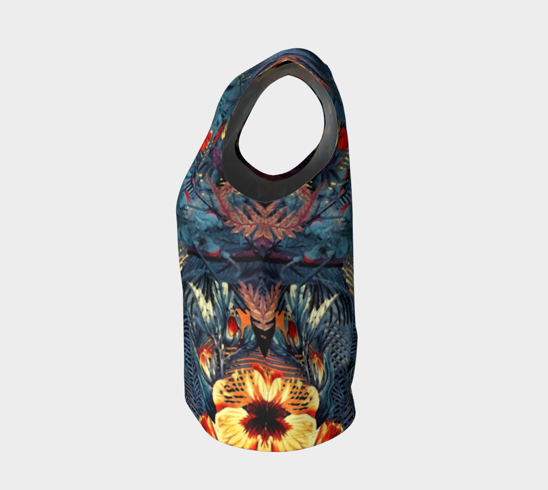 flowers arts  loose tank top preview #3