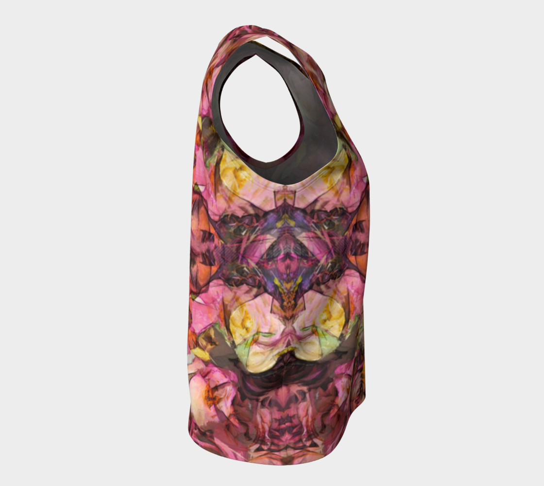 flowers rose loose tank top preview #8