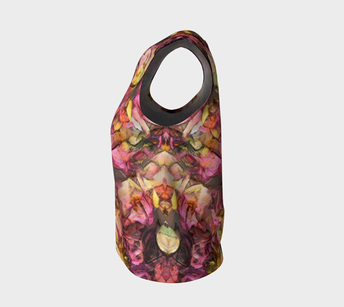 flowers rose loose tank top preview #3