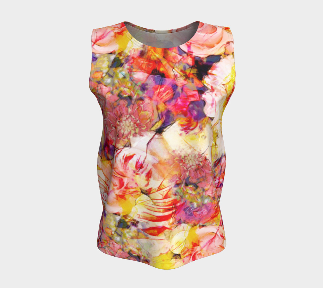 flowers pastel  loose tank top preview #5