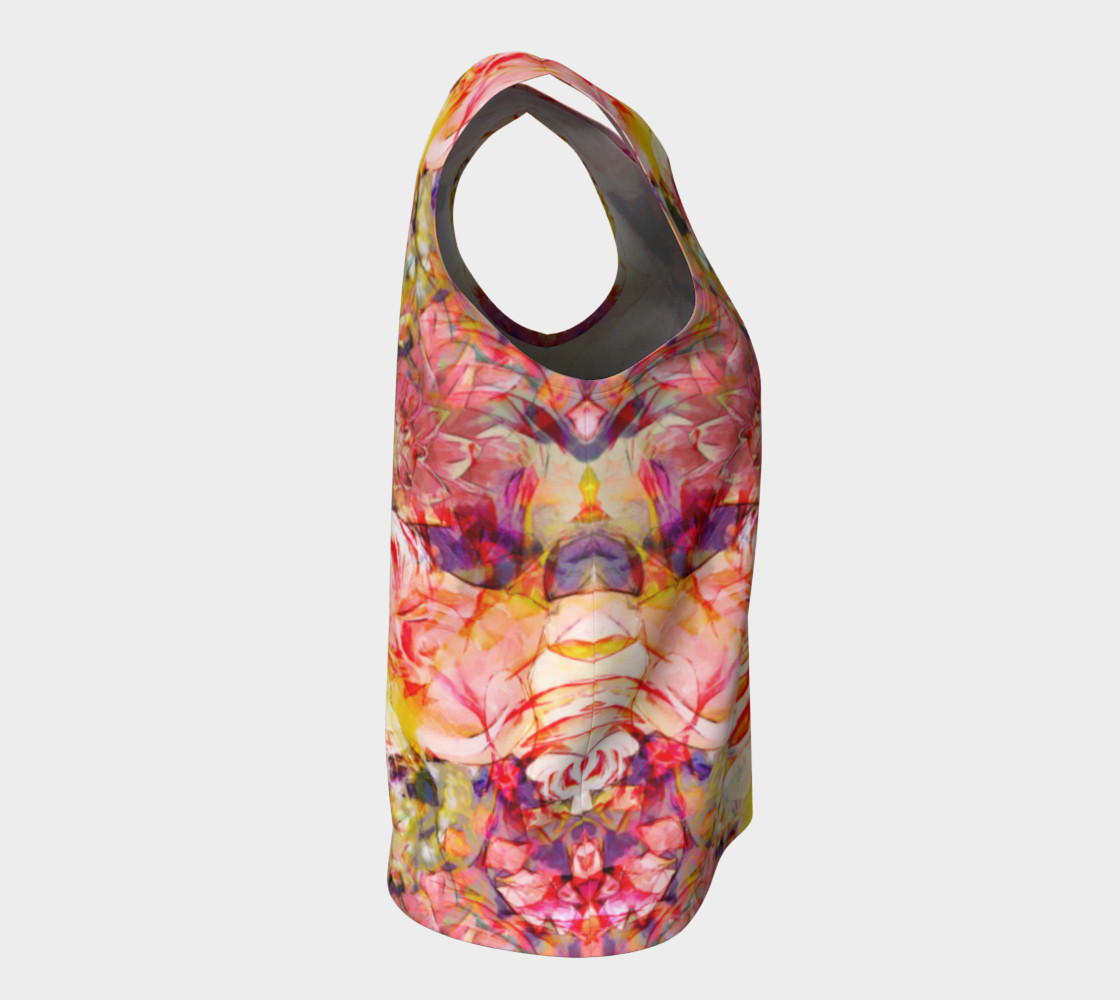 flowers pastel  loose tank top preview #8