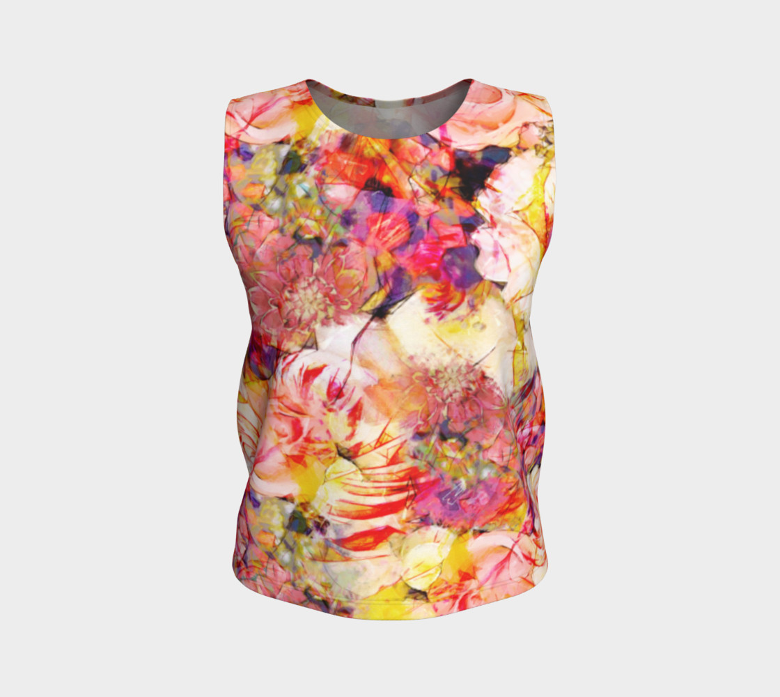 flowers pastel  loose tank top preview #1
