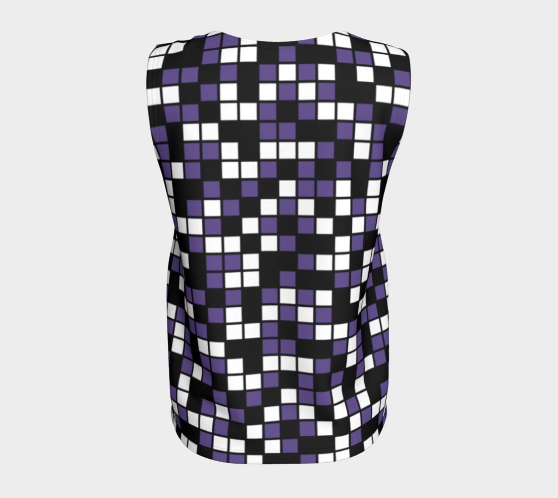 Aperçu de Ultra Violet Purple, Black, and White Random Mosaic Squares #6