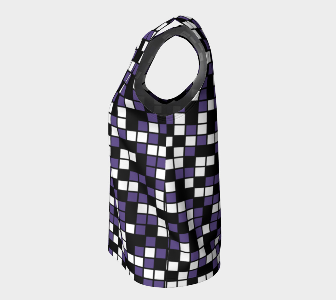 Aperçu de Ultra Violet Purple, Black, and White Random Mosaic Squares #7