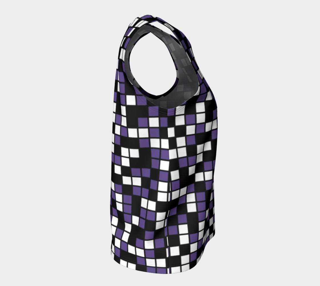 Aperçu de Ultra Violet Purple, Black, and White Random Mosaic Squares #8
