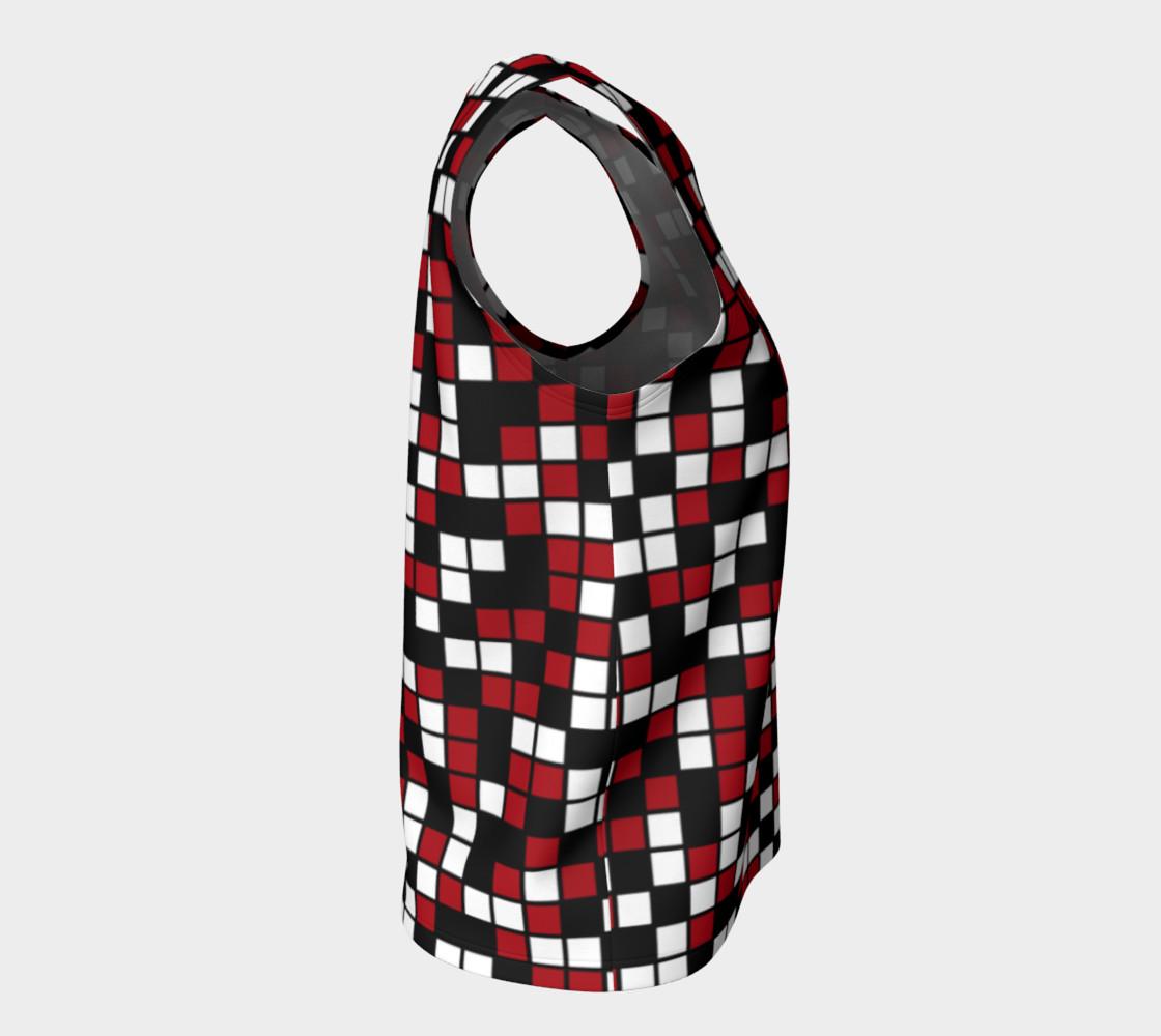 Aperçu de Dark Red, Black, and White Random Mosaic Squares #8