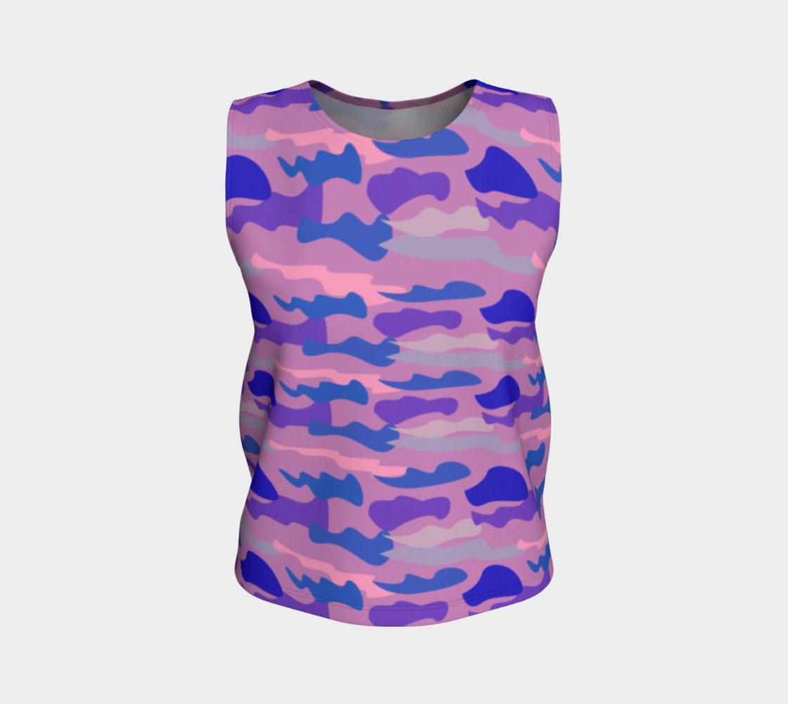 Luxury top pink with blue lines Camu II preview #1