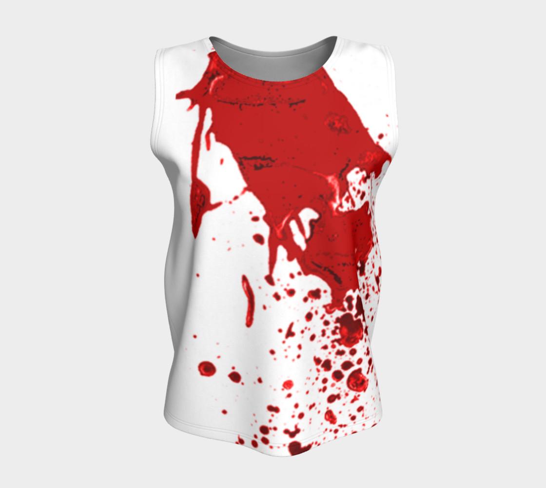 Blood Splatter First Cosplay Halloween Loose Tank Top preview #5