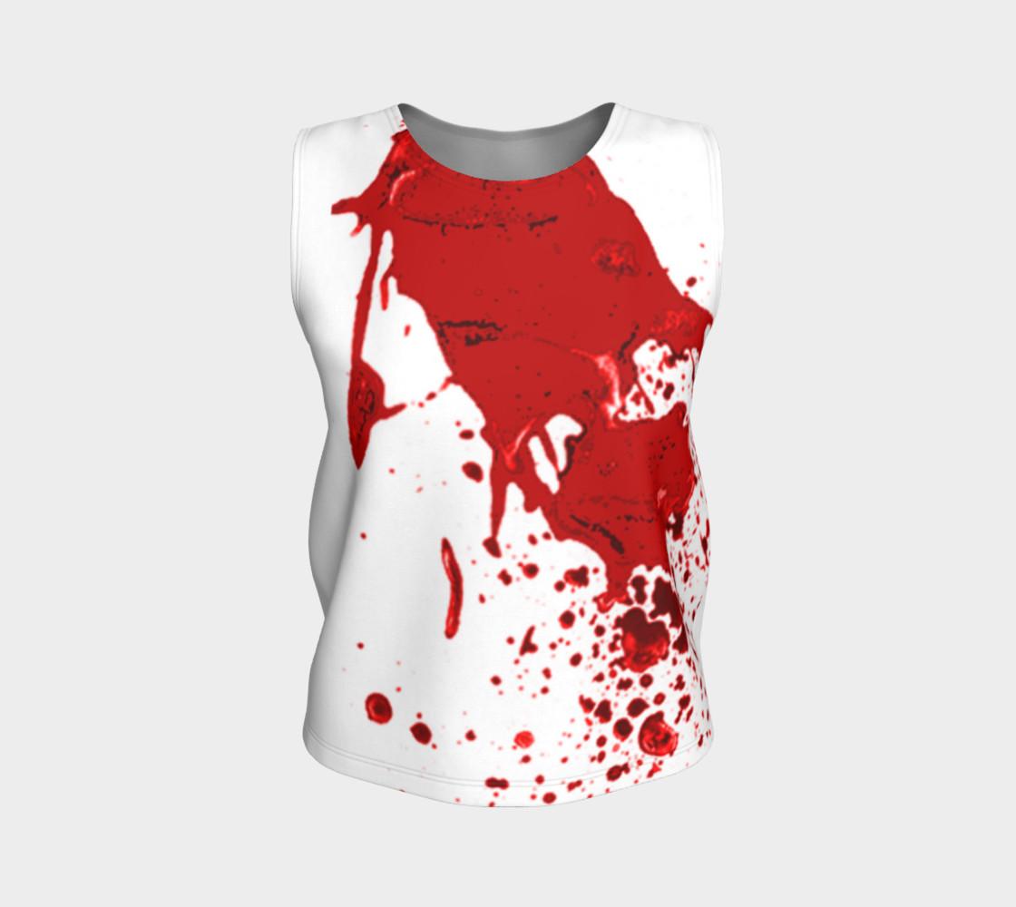 Blood Splatter First Cosplay Halloween Loose Tank Top preview #1