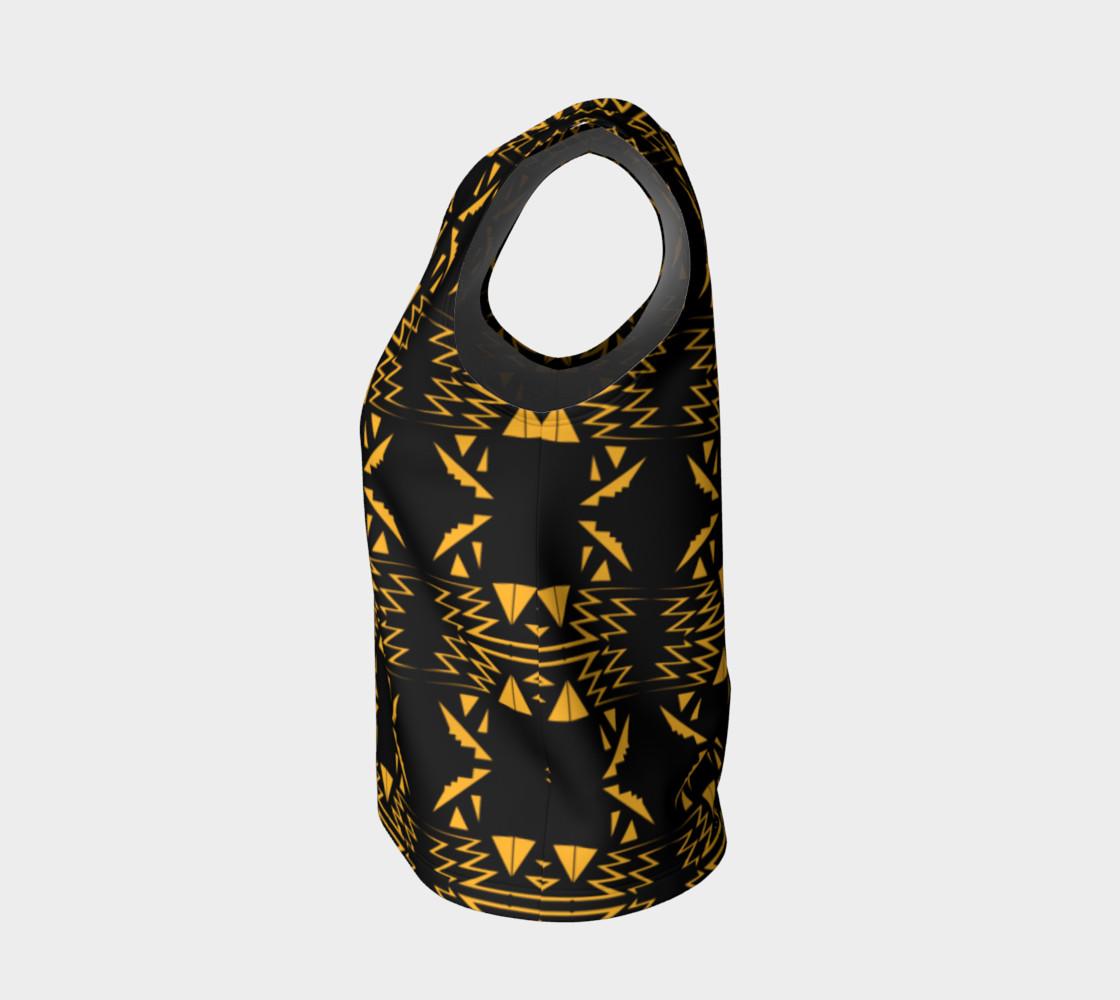 Designers top black gold Vintage Ornam. preview #3