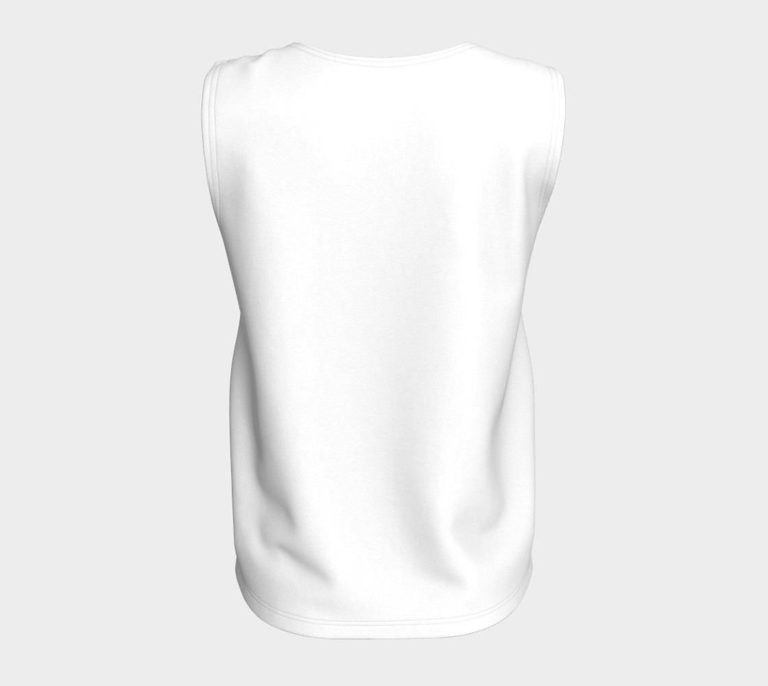 White Loose Fit Tank preview #6