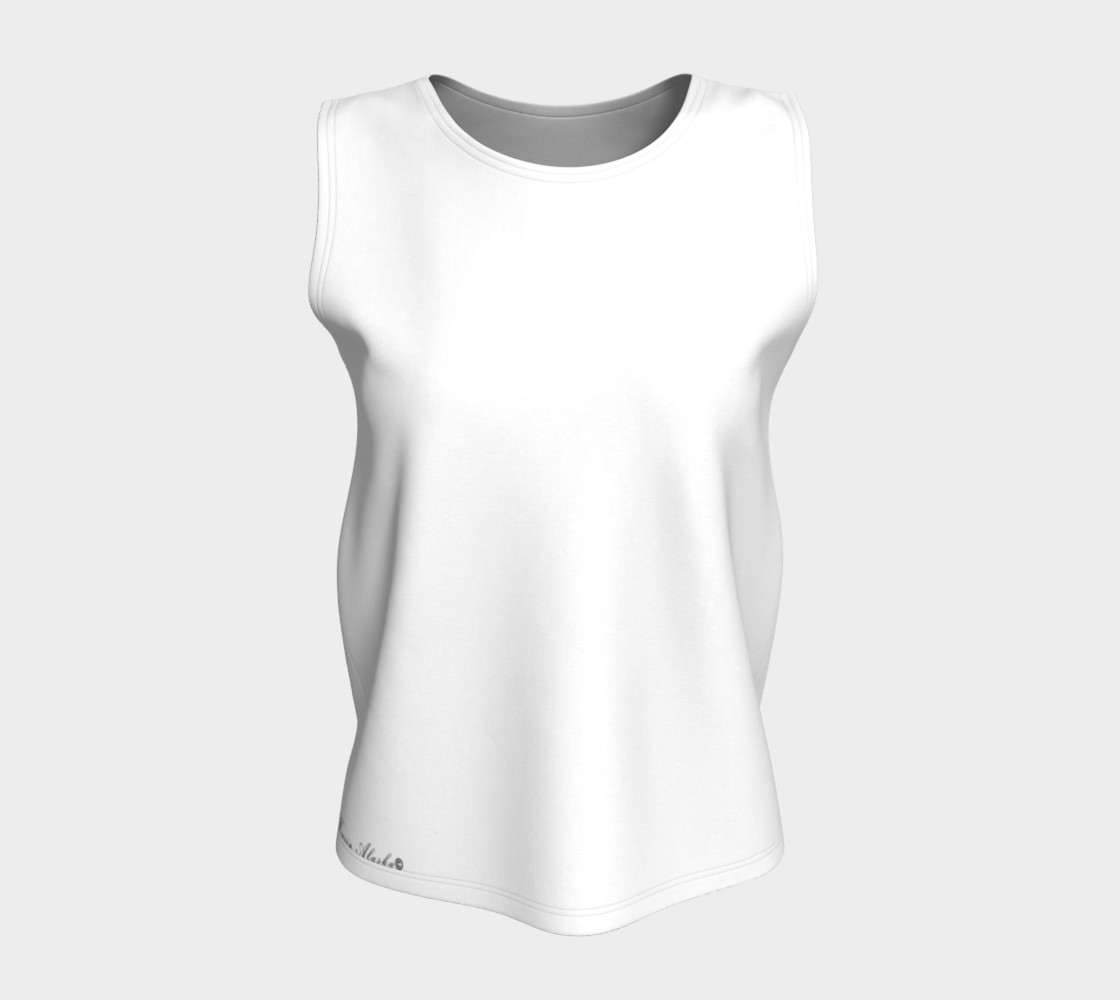 White Loose Fit Tank preview #5
