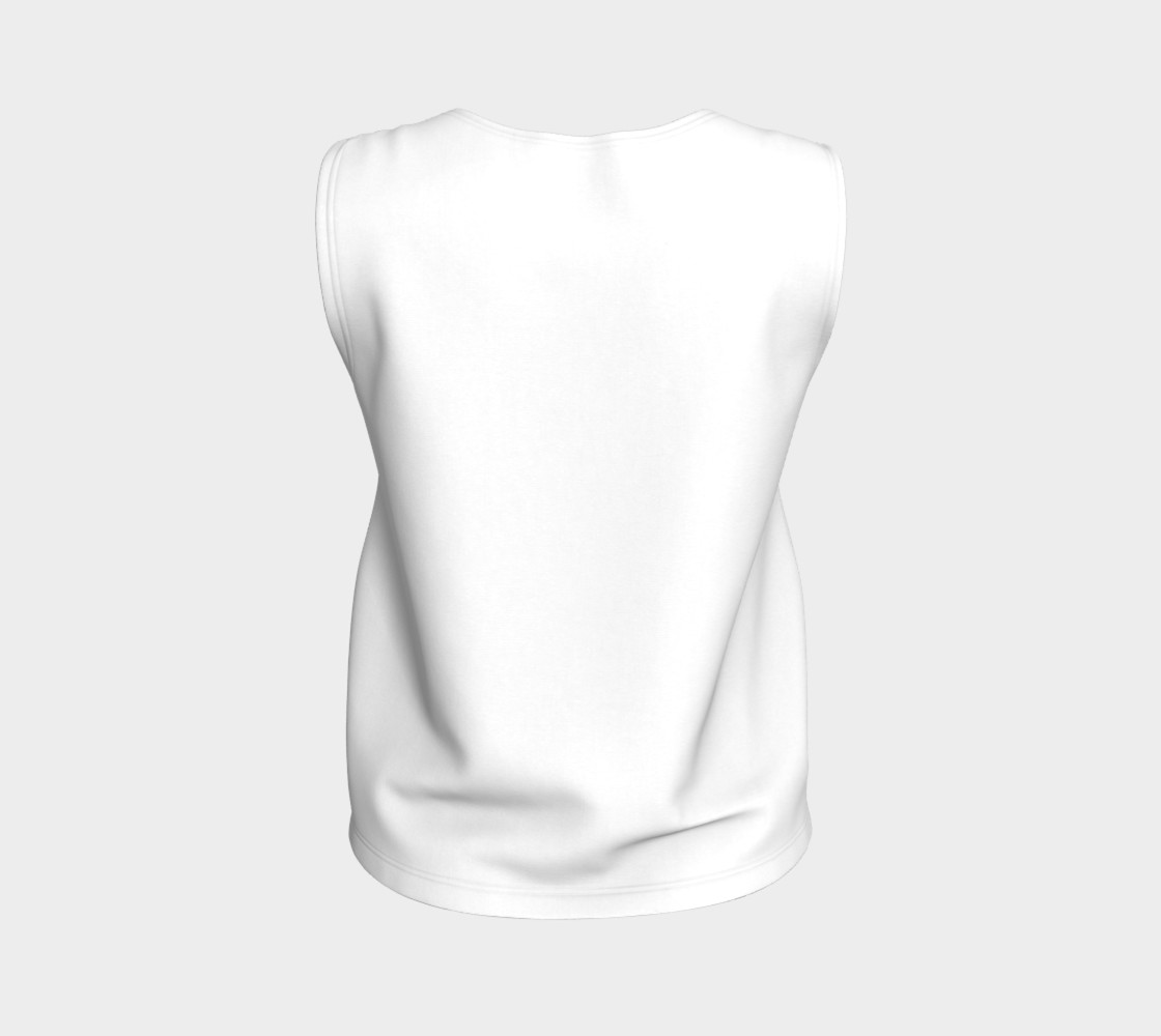 White Loose Fit Tank preview #2