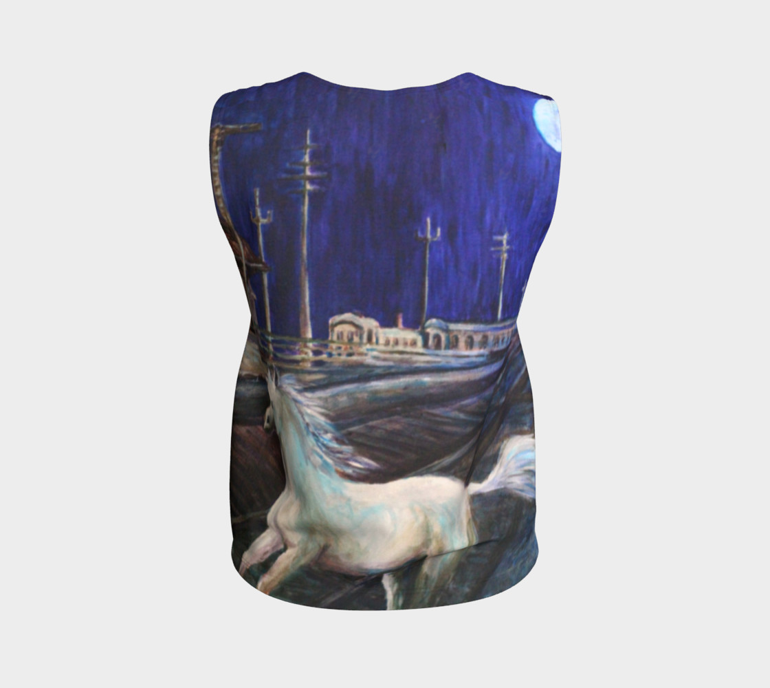 Horse in the Moonlight Loose Tank Top preview #2