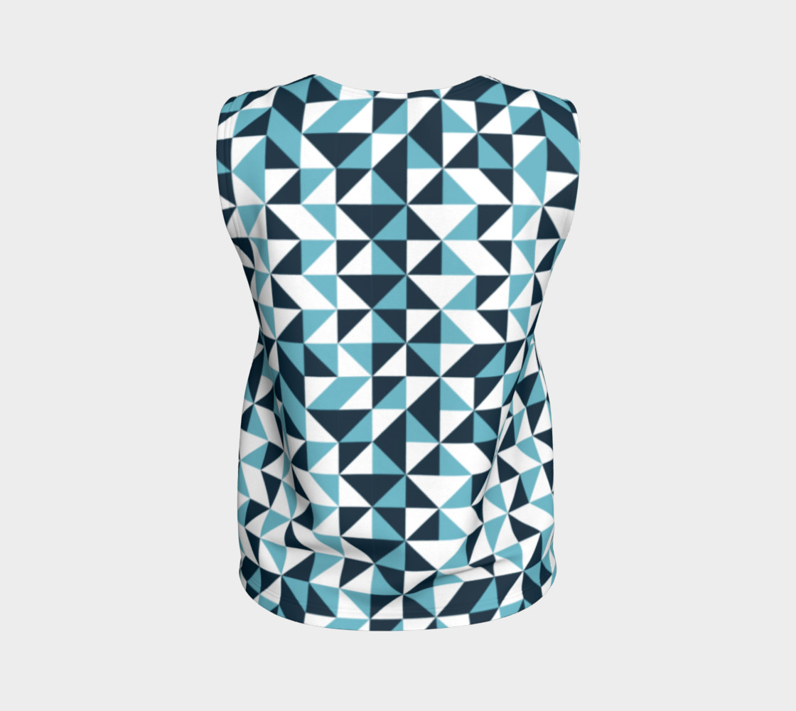 Blue Triangles Loose Tank Top preview #2