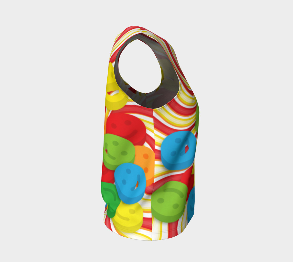 Aperçu de Rainbow Candy Swirls and Smiley Face Emojis Loose Tank Top #4