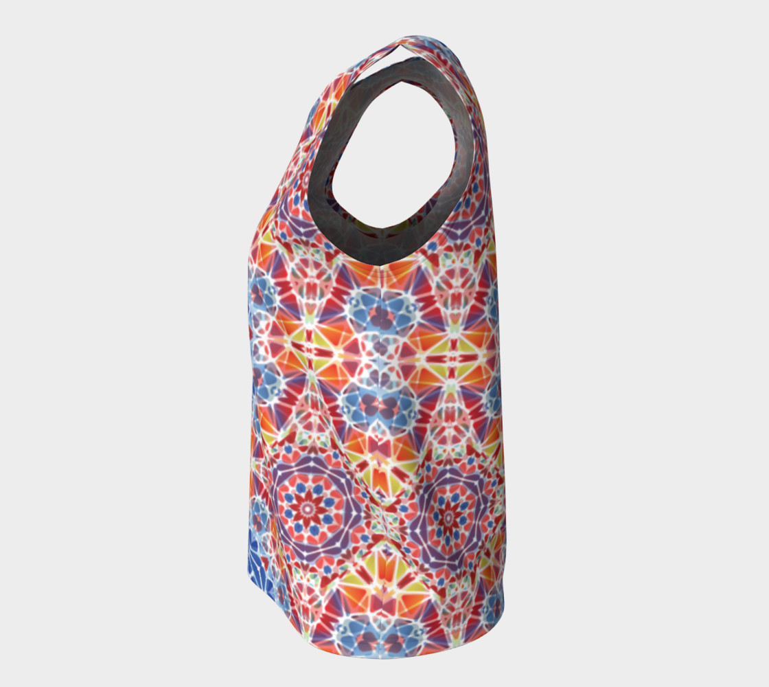 Blue and Orange Kaleidoscope Loose Tank Top preview #7