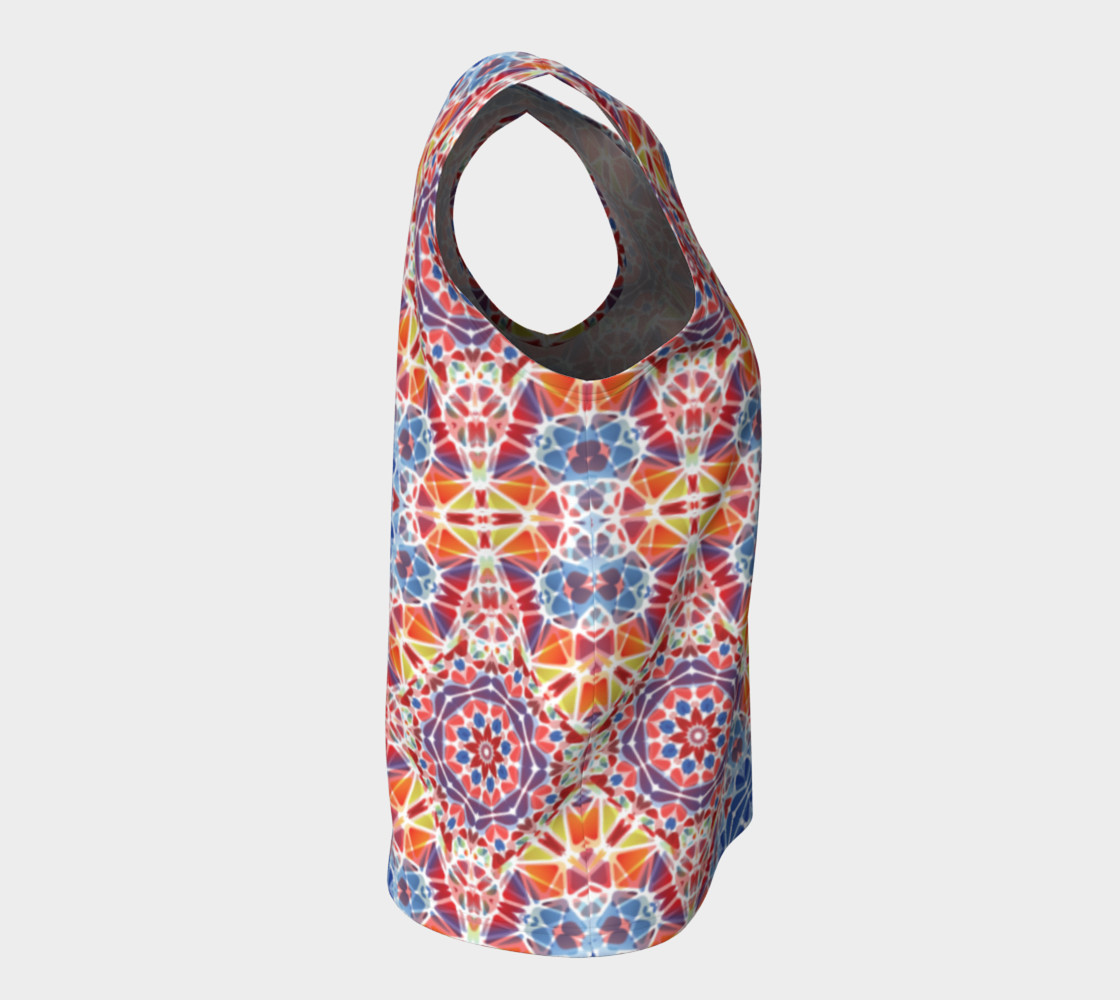 Blue and Orange Kaleidoscope Loose Tank Top preview #8