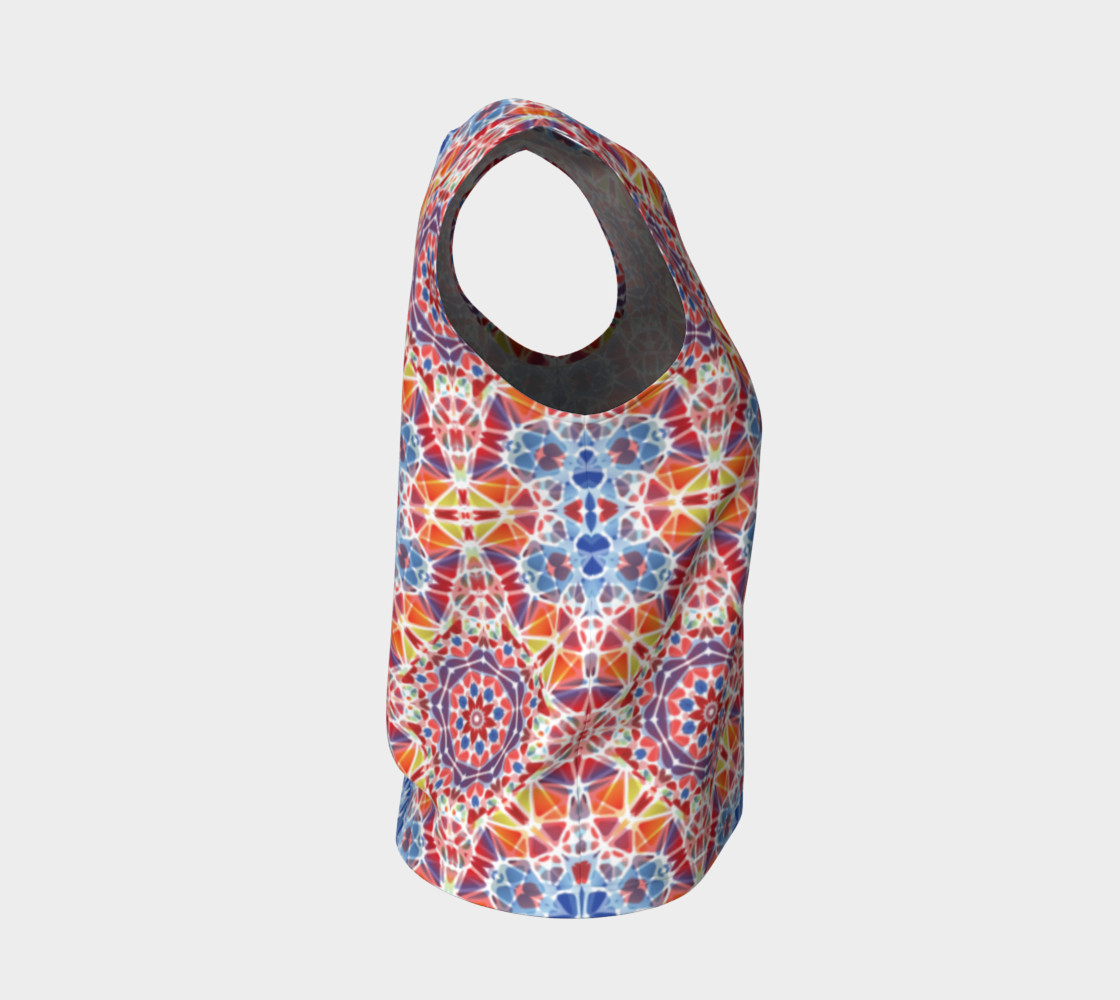 Blue and Orange Kaleidoscope Loose Tank Top preview #4