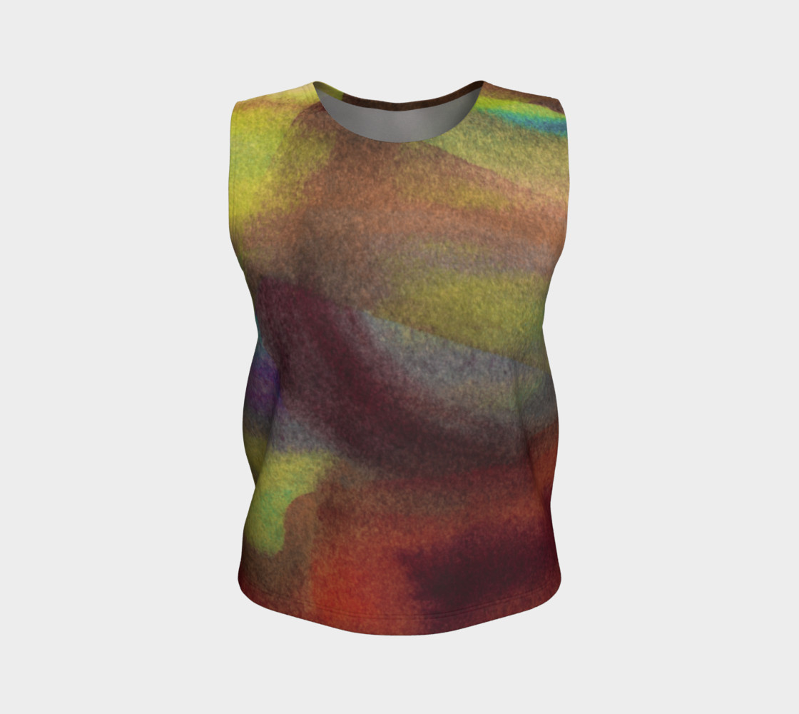 Tropical Watercolor 2 Loose Tank preview #1