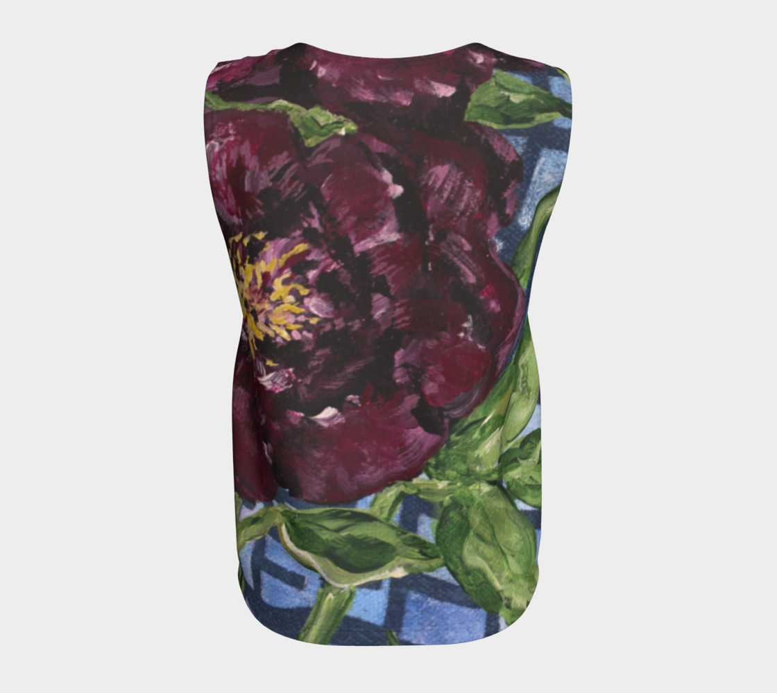 Burgundy Peony Loose Tank preview #6