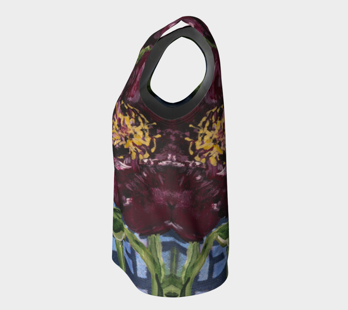 Burgundy Peony Loose Tank preview #7