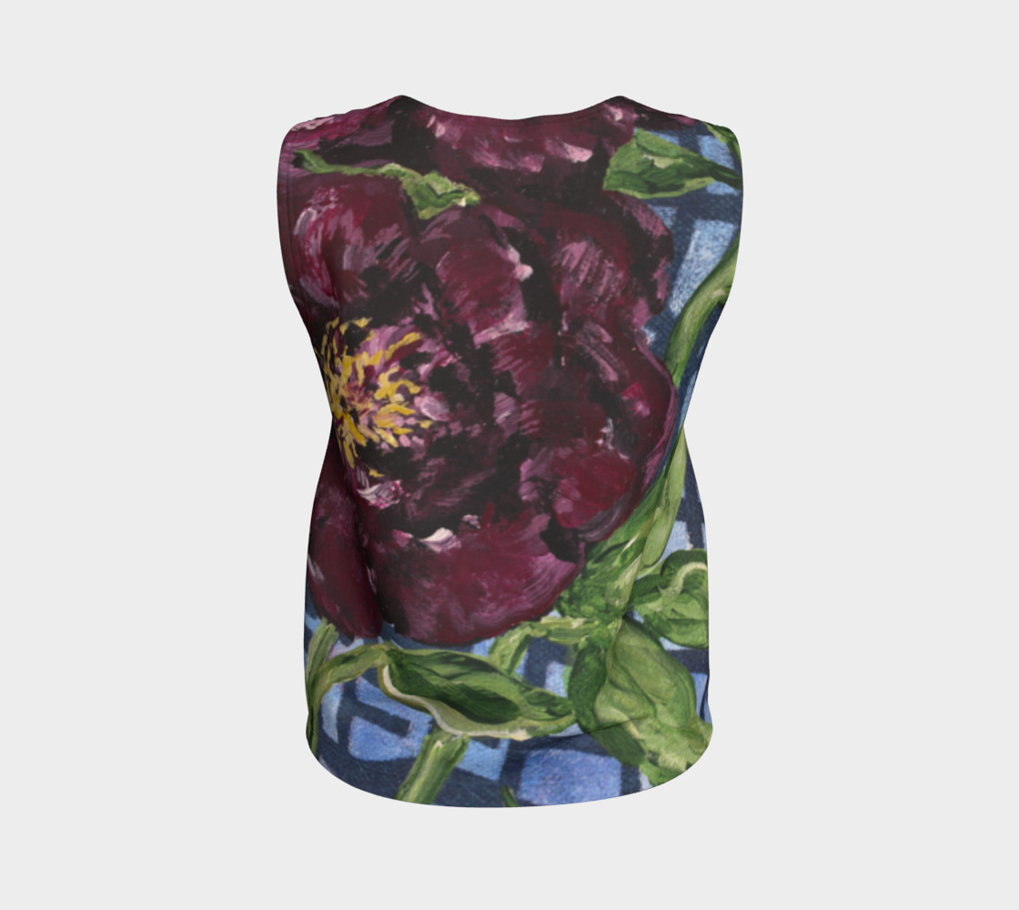 Burgundy Peony Loose Tank preview #2