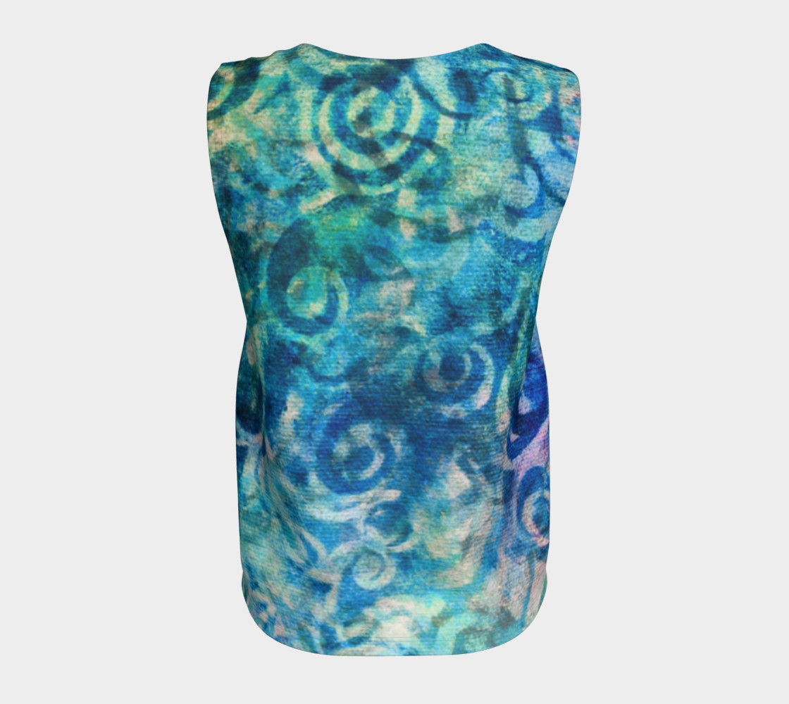 Blue Swirl Loose Tank preview #6