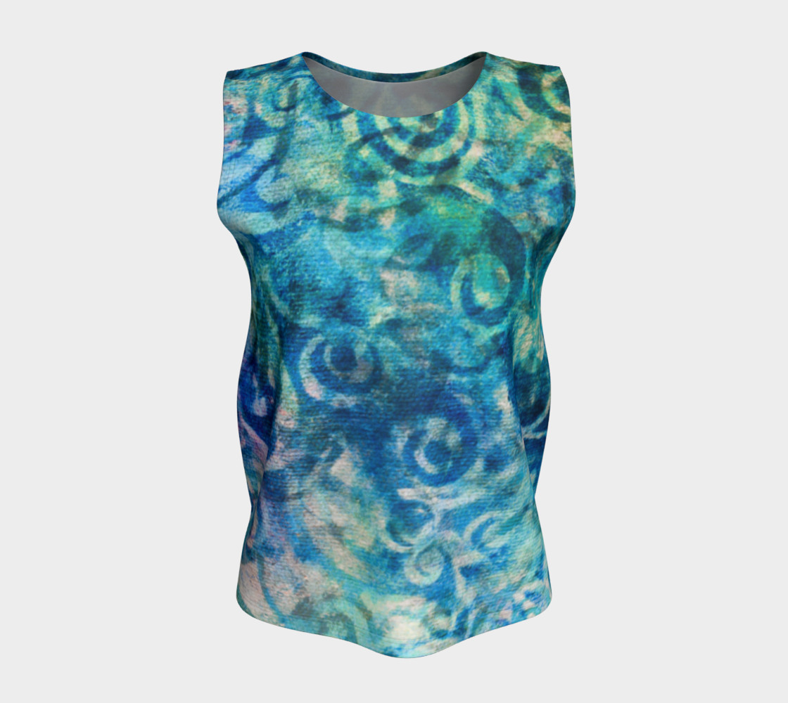 Blue Swirl Loose Tank preview #5