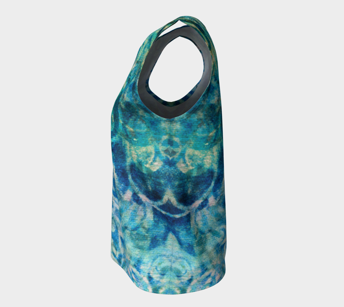 Blue Swirl Loose Tank preview #7