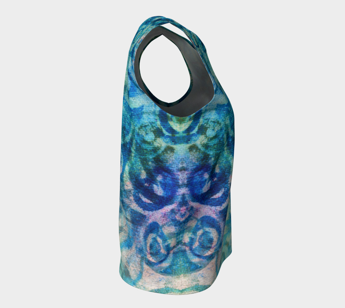 Aperçu de Blue Swirl Loose Tank #8