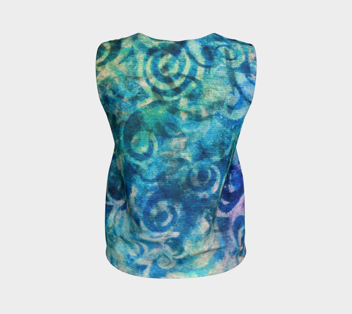 Aperçu de Blue Swirl Loose Tank #2