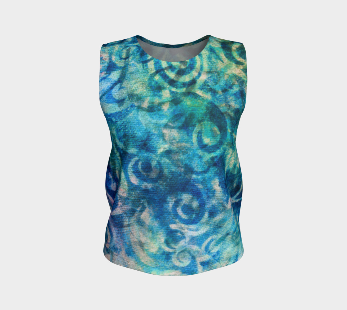 Blue Swirl Loose Tank preview #1