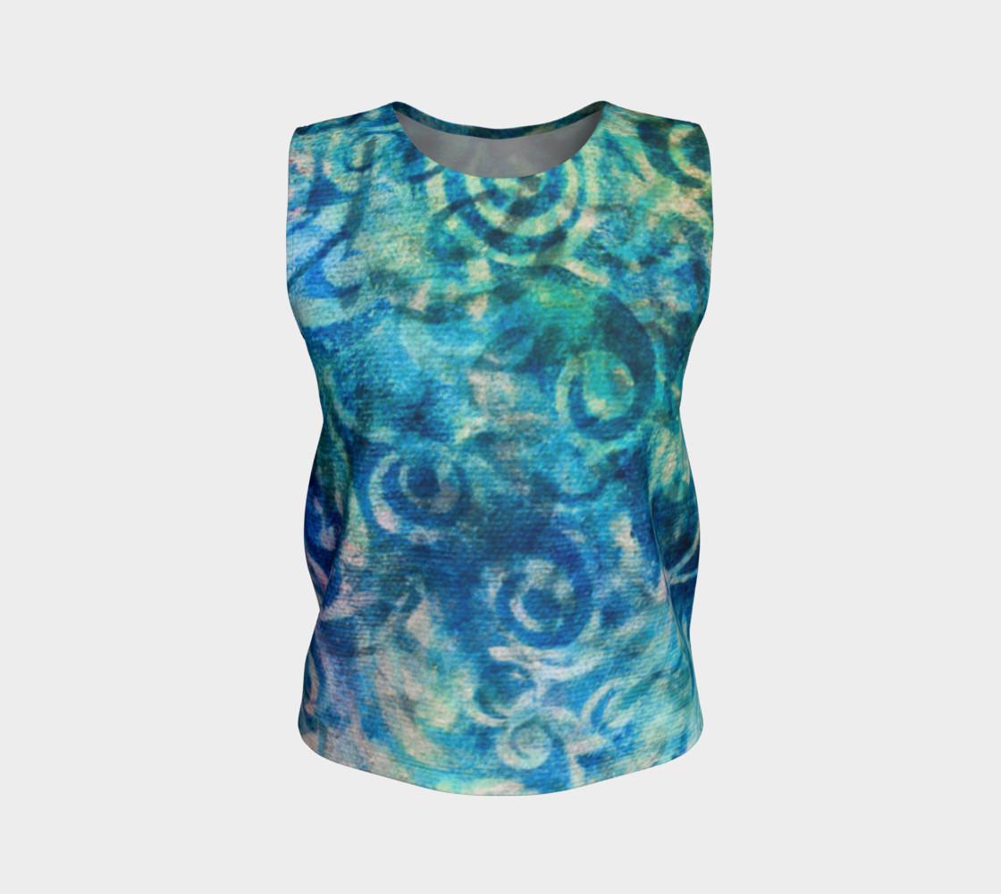 Aperçu de Blue Swirl Loose Tank #1