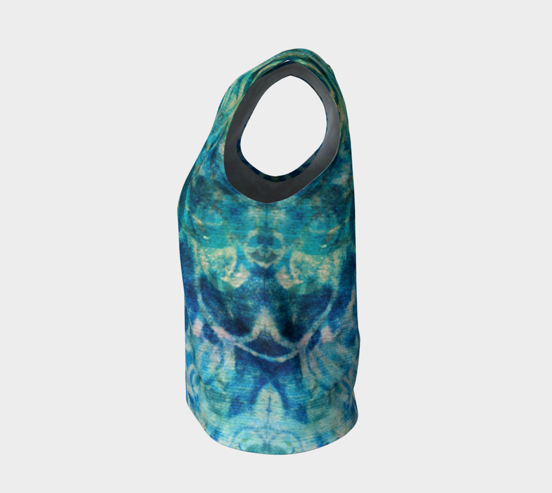 Blue Swirl Loose Tank preview #3