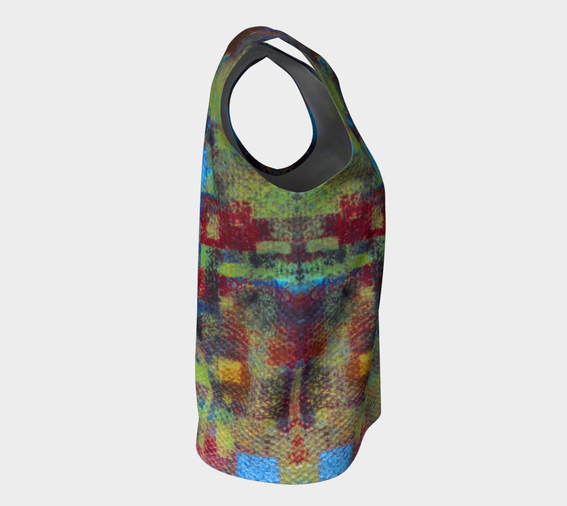 Abstract Mosaic Loose Tank preview #8
