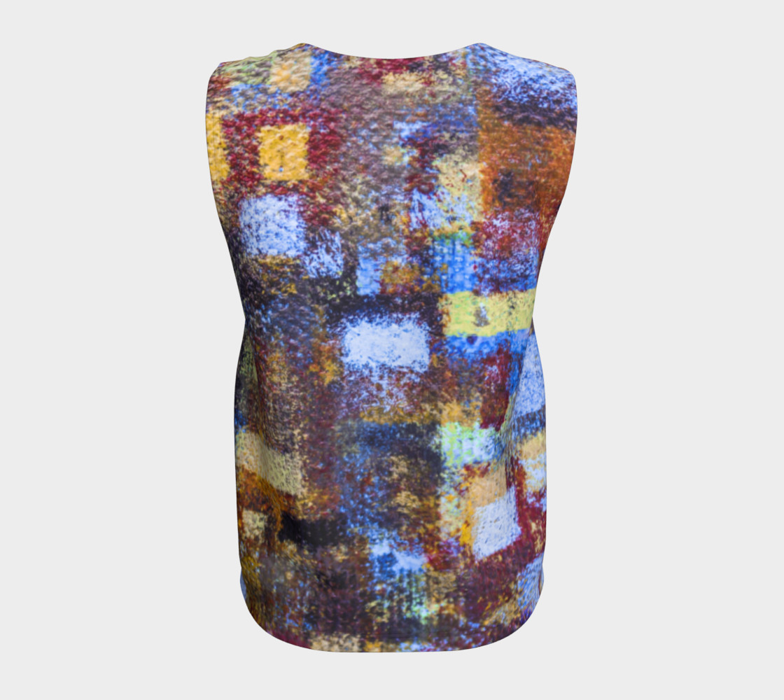 Abstract Mosaic Blue Loose Tank preview #6