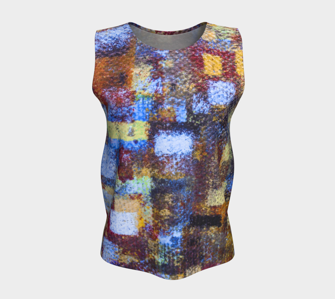 Abstract Mosaic Blue Loose Tank preview #5