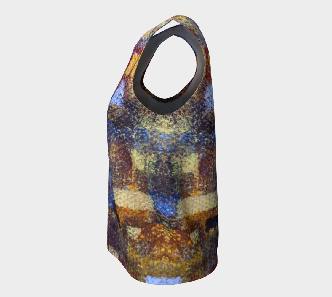 Abstract Mosaic Blue Loose Tank preview #7