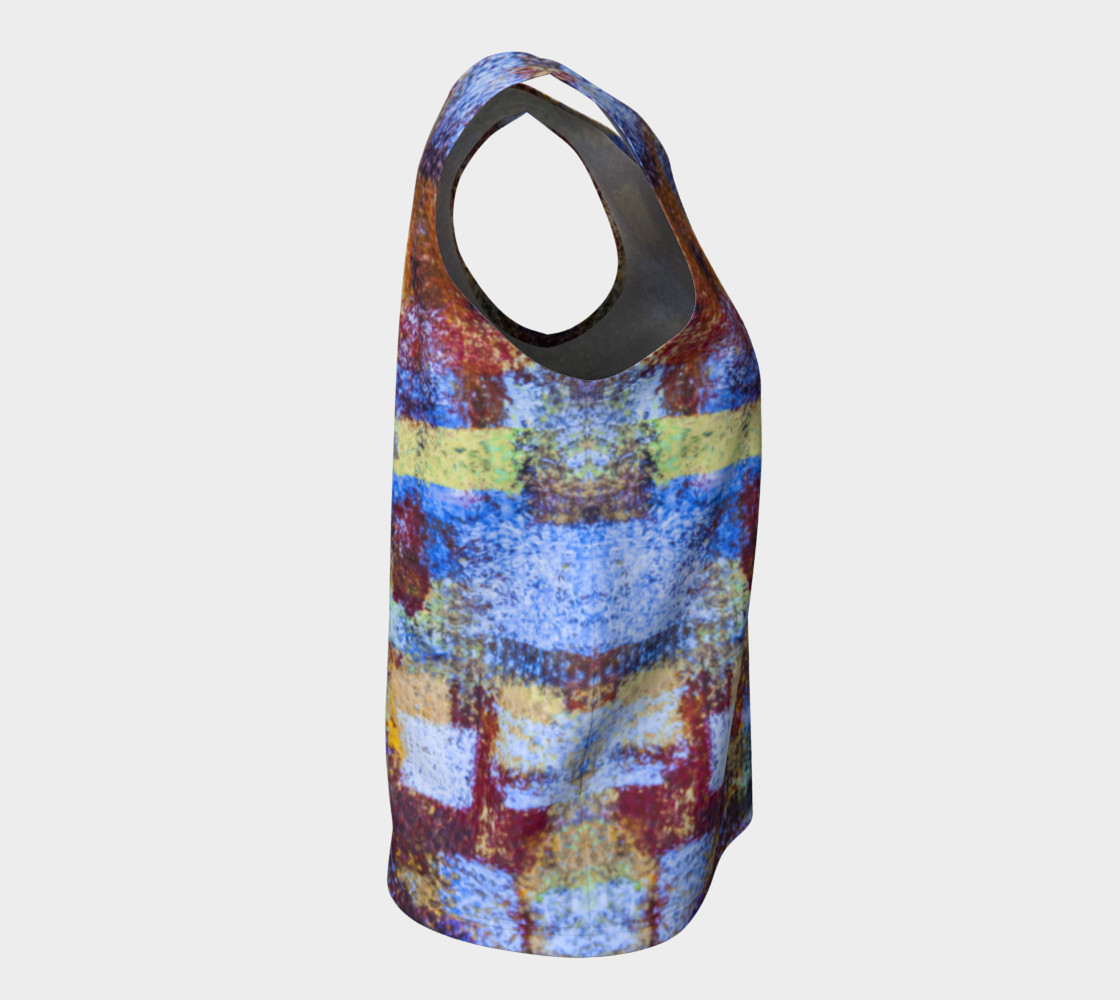 Abstract Mosaic Blue Loose Tank preview #8