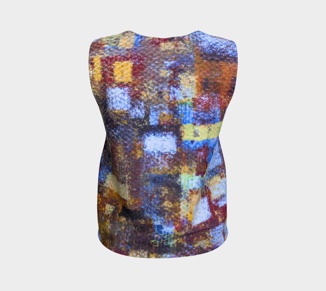 Abstract Mosaic Blue Loose Tank preview #2