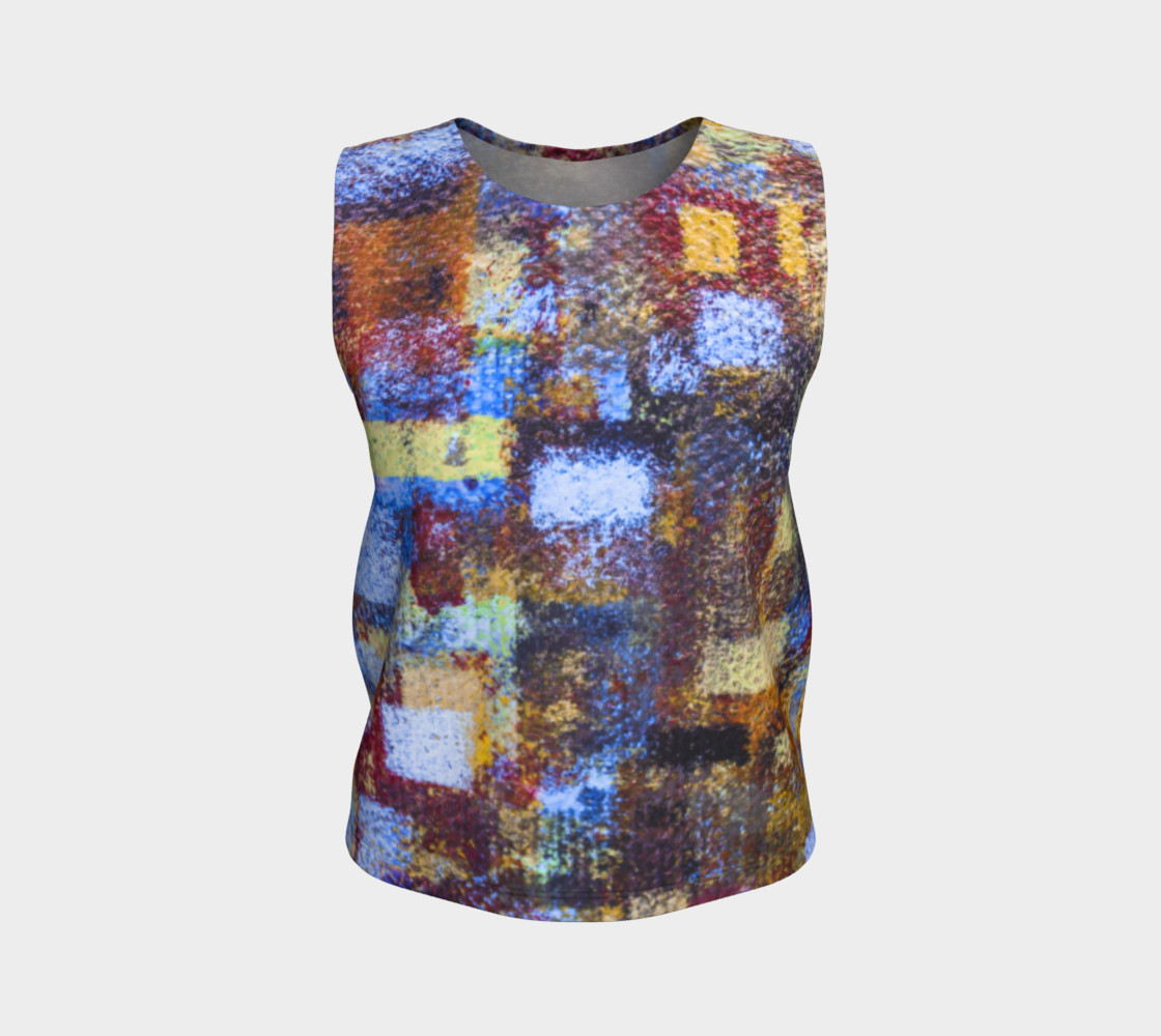 Abstract Mosaic Blue Loose Tank preview #1