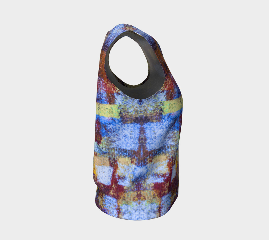 Abstract Mosaic Blue Loose Tank preview #4