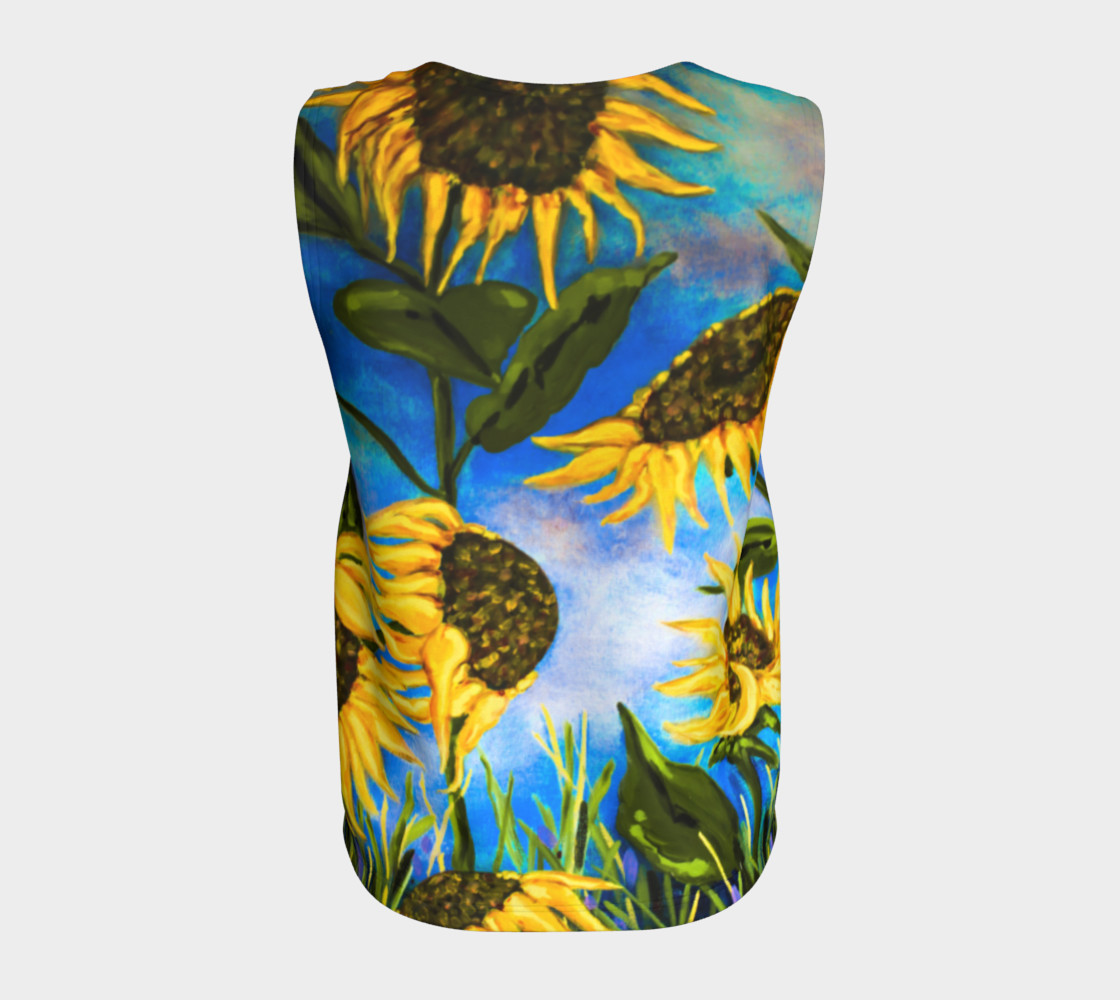 Vibrant Sunflowers Loose Tank Miniature #7