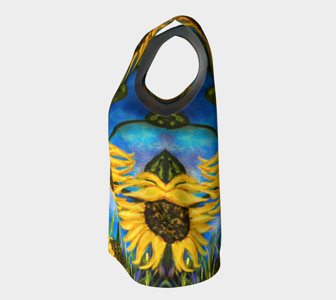 Vibrant Sunflowers Loose Tank Miniature #8