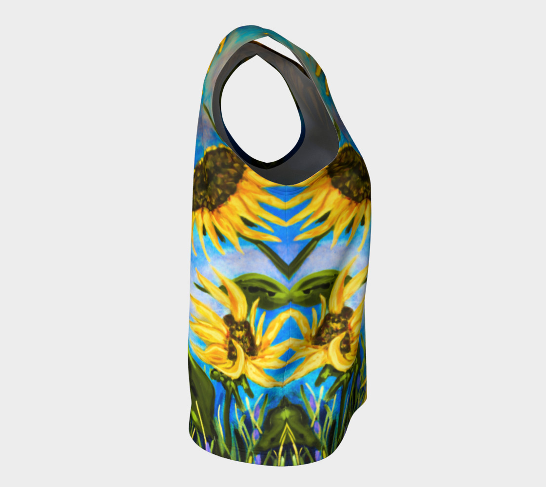 Vibrant Sunflowers Loose Tank Miniature #9