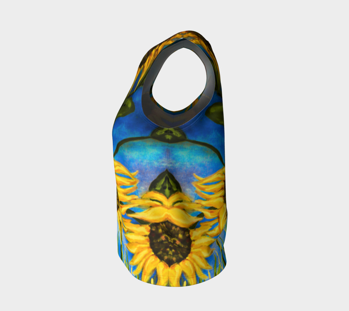 Vibrant Sunflowers Loose Tank Miniature #4