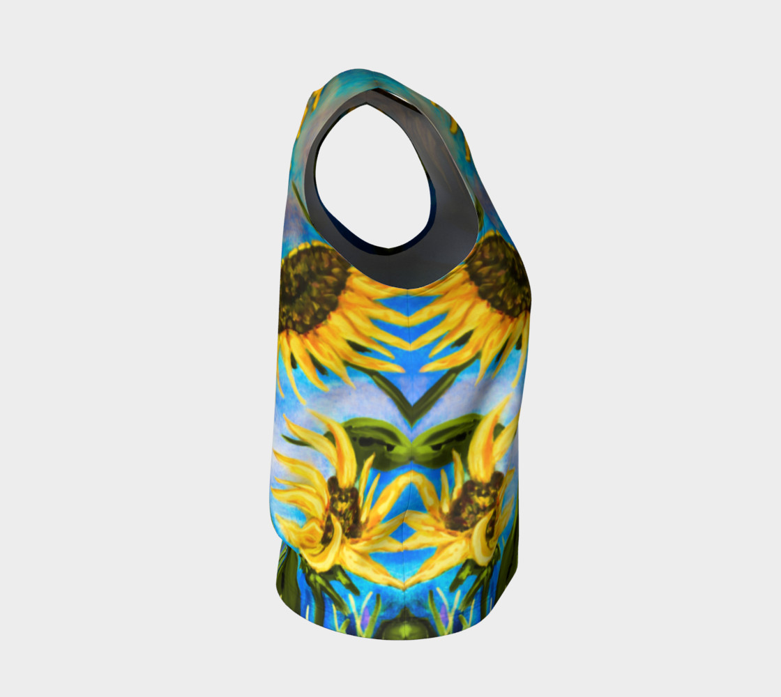Vibrant Sunflowers Loose Tank Miniature #5